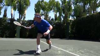 How To Hit A Defensive Slice Backhand | Pat Cash Tennis