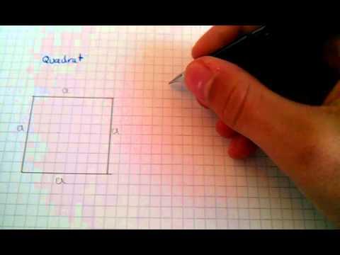 fl cheninhalt eines quadrates berechnen mathe tutorial. Black Bedroom Furniture Sets. Home Design Ideas
