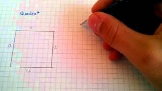 Flächeninhalt eines Quadrates berechnen - Mathe-Tutorial