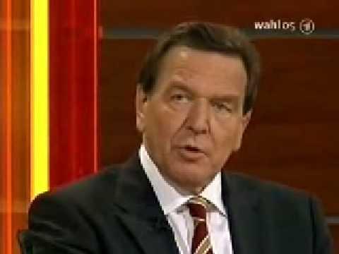 Gerhard Schröder in der Elefantenrunde