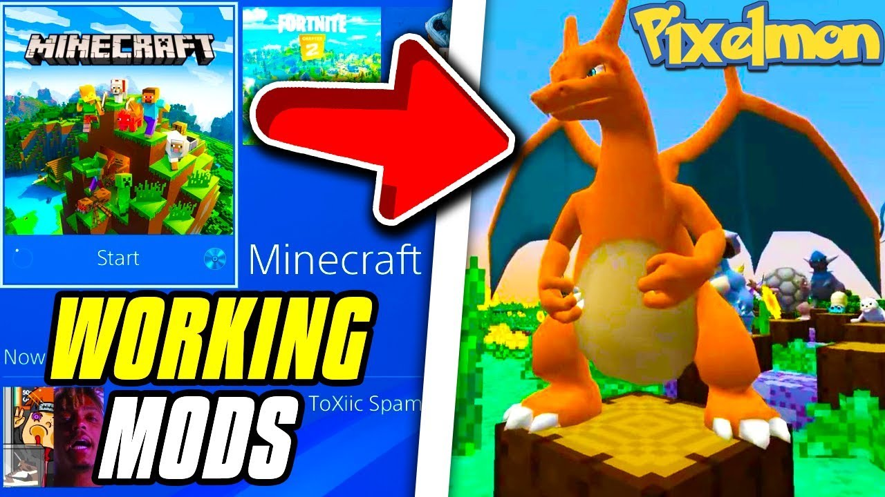 Minecraft PS4 Bedrock How To Install Mods Minecraft PS4