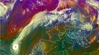 Hurricane Ophelia, satellite images (airmass)