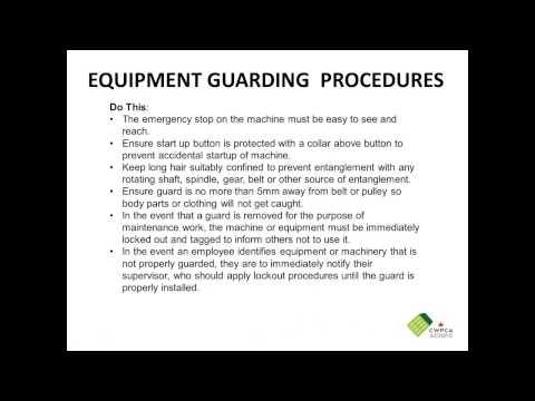 CWPCA health & safety webinar on machine guarding