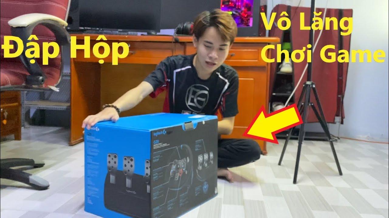 ThanhTrung Vlogs #11 Đập Hộp Vô Lăng Chơi Game Siêu Xịn   Cảm Giác Lái Như Thật Quá Đã