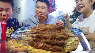 Lazy on the line, barbecue, hand-picked rice, mutton soup! Xinjiang lamb skewers ~ ~ walk ~ ~!