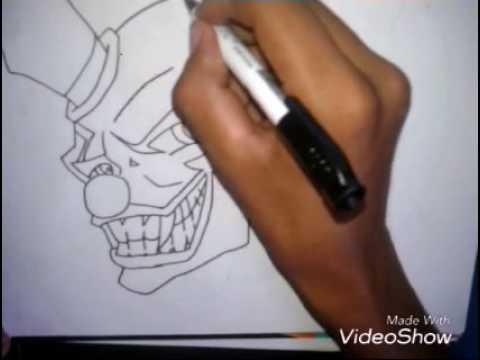 Como Desenhar Palhaco Mal Youtube