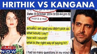 Hrithik Roshan Was Never Kangana Ranaut's Ex? Times NOW Accesses Never Seen Before  Emails