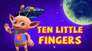 Ten Little Fingers | Finger Family Rhymes