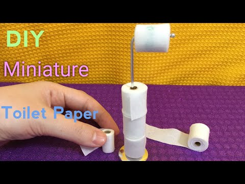 DIY Miniature Toilet Paper and Toilet Paper Stand