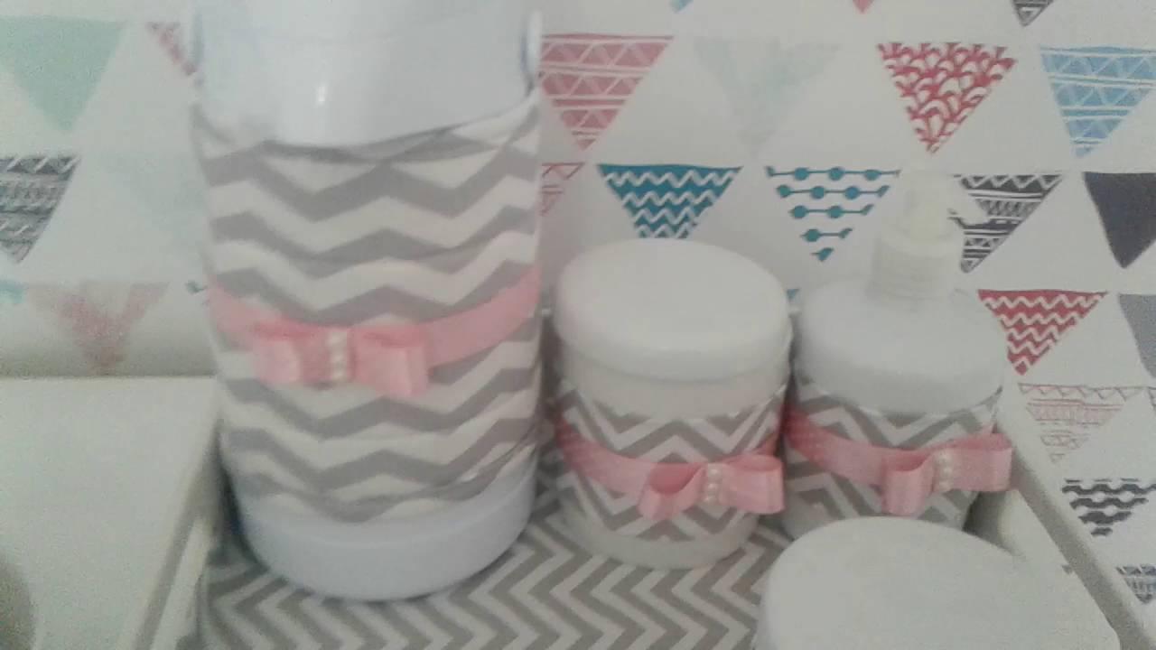 Kit higiene, monte voc u00ea mesma e economize !!! YouTube -> Como Decorar Kit Higiene Para Bebe Com Perola