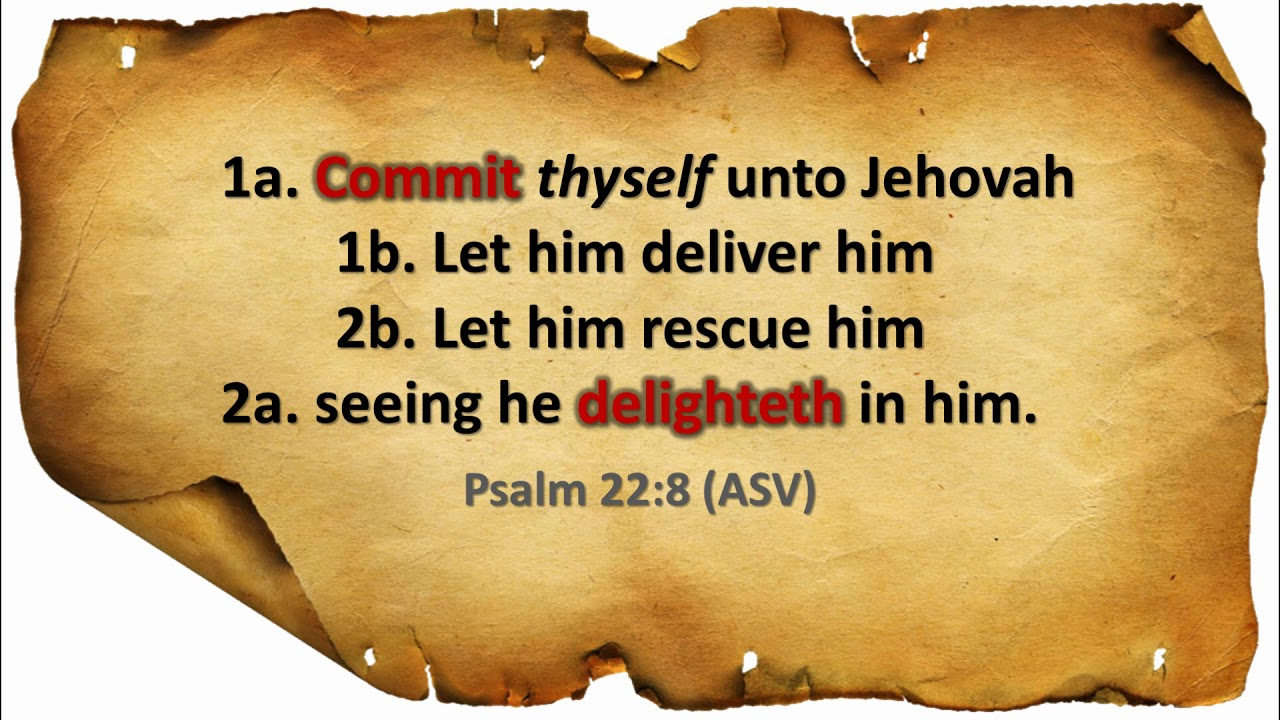 Hebrew Word Study: Psalm 22:8