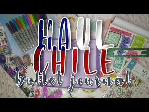 HAUL CHILE (Bullet Journal, Manualidades, Casa) ~ Parte 1   Vicky Hipper 👽