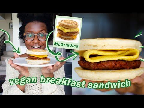 How to Make a Vegan McGriddles – vegan mcgriddles copycat | veggieonpennies