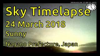 Sky timelapse of Nagano, Japan (24 March 2018) : Sunny thumbnail