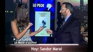 ESTA NOCHE LIBROS 2 - Lo Mejor y Lo Peor de Sandor Marai, por Eugenia Zicavo