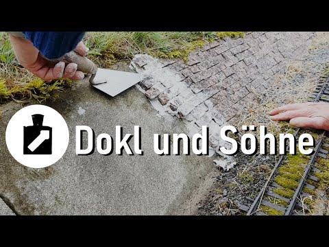 Natursteinmauer / Böschung bauen für die Gartenbahn