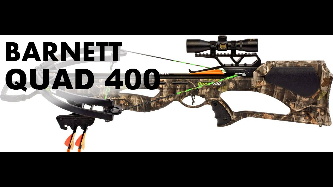 Barnett Quad 400 Crossbow Review, Specs, Cocking device, parts