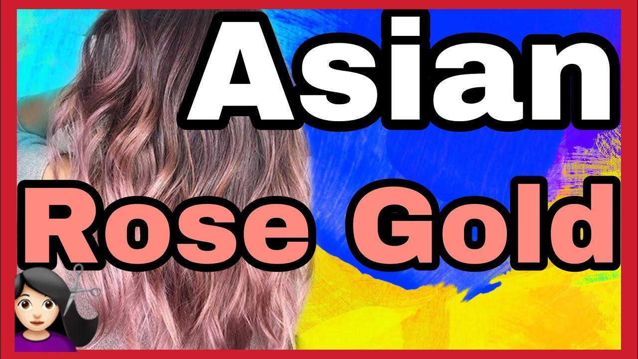 Turning Asian Rose Gold Rose Gold Hair Maintenance Salon Experience Youtube