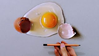 "Drawing of a broken egg - How to draw 3D art ""Fabiano Millani"""