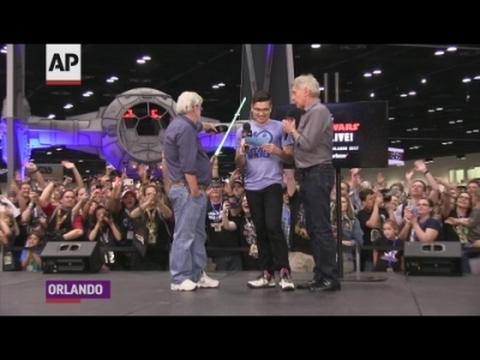 Ford, Lucas thrill fans at 'Star Wars' event
