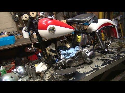 1958 panhead 74ci #103 fl bike rebuild topend repair harley by tatro machine