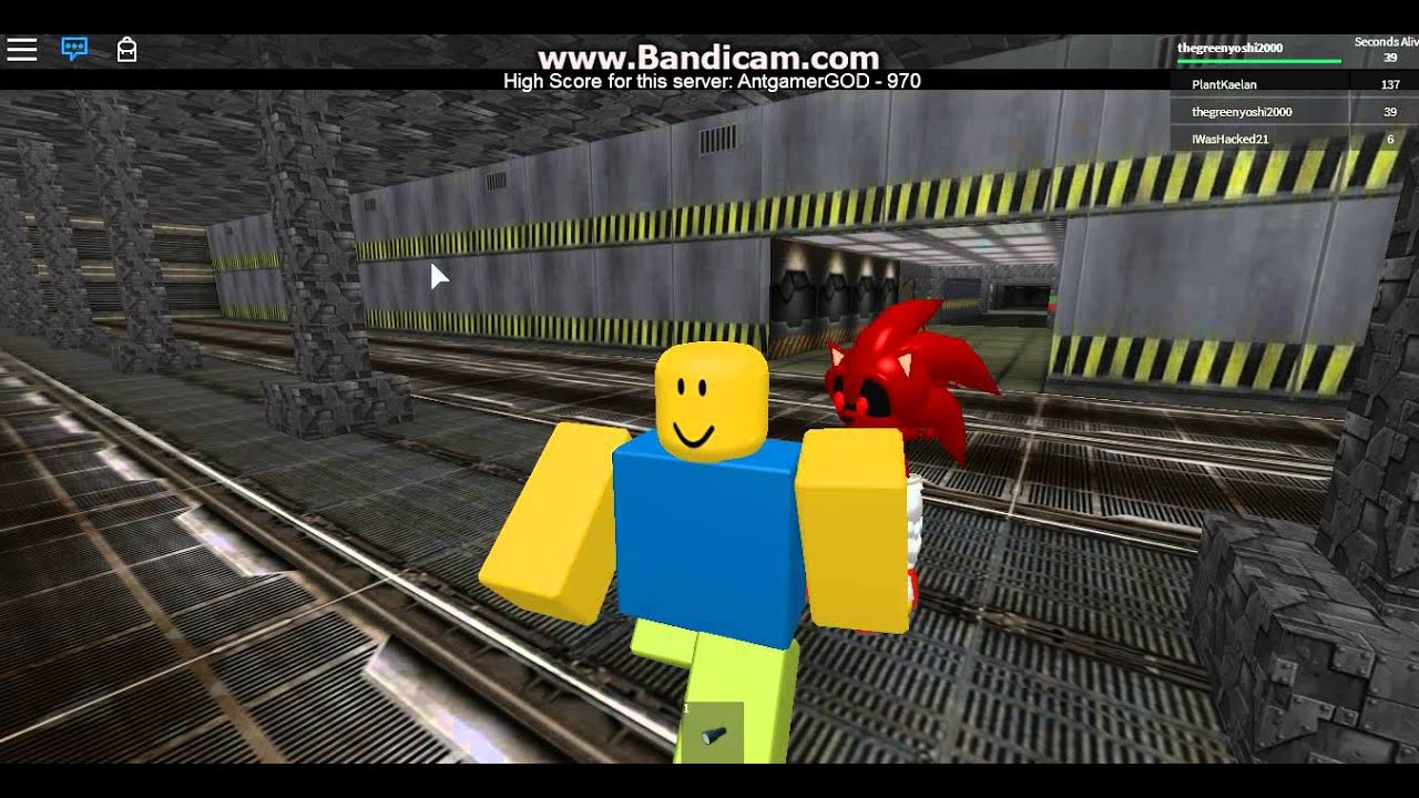 ROBLOX Survive Bloody Sonic EXE In Area-51