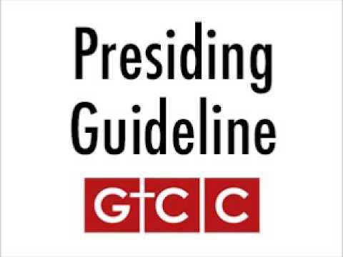Presiding Guideline