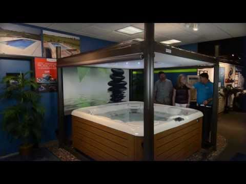 Hot Tub Automated Privacy Gazebo By San Juan Pools & Spas