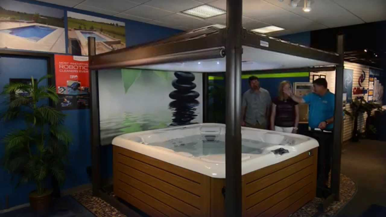 Hot Tub Automated Privacy Gazebo By San Juan Pools Spas Youtube
