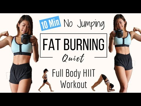 Download Youtube: 10 min No Jumping Full Body Fat Burning HIIT Workout | QUIET CARDIO (Apartment Friendly)