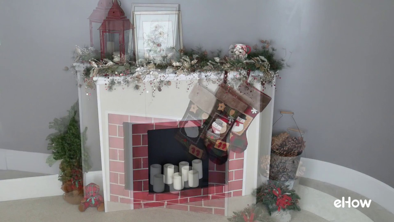 No place to hang your stockings or Christmas decor? DIY a faux firplace with cardboard! Start with four cardboard display boards -- the kind students use for...