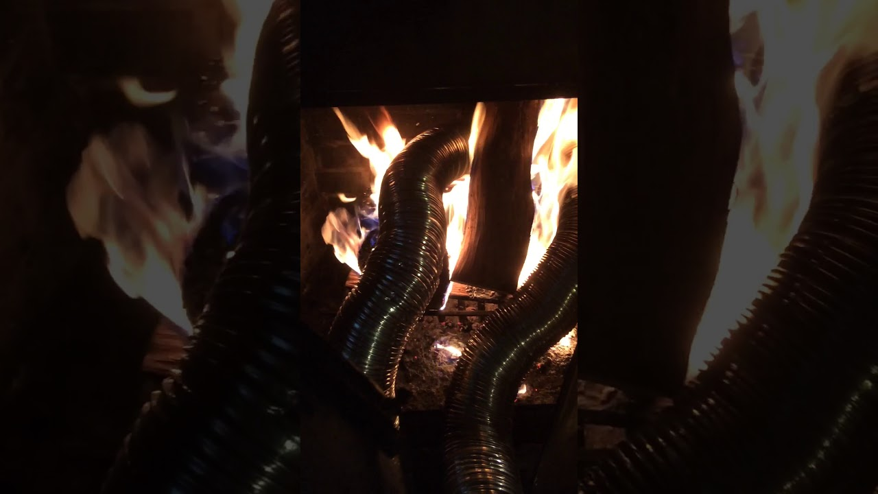 homemade fireplace blower youtube