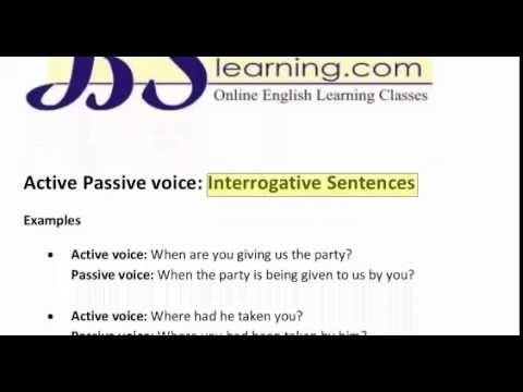 how to make a sentence active