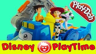 toy story play doh buzz woody jessie go playdoh crazy with diggin rigs buzzsaw playdough playset