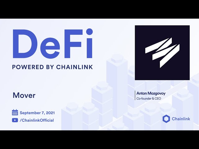 Mover on Chainlink Live | Secure Prices for Savings and Treasury Solution
