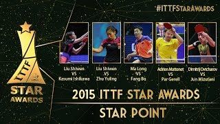 Which is the Table Tennis Star Point of 2015
