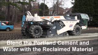 Full Depth Reclamation with Portland Cement Stabilization - Chapel Hill Country Club