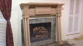 Custom Fireplace Mantel - Lewisburg With Special Appliques