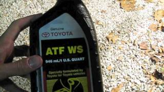How to change transmission fluid in an 07 Toyota Tacoma V6 PreRunner (2005-2010 models)