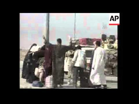 GWT: British troops man checkpoint at Basra