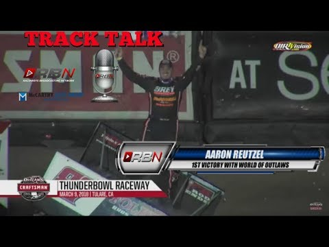 RacinBoys with Aaron Reutzel  after picking up World of Outlaws feature win
