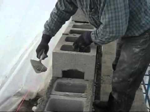 видео: кладка шлакоблока