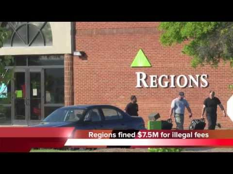 Regions Bank charges illegal overdraft fees