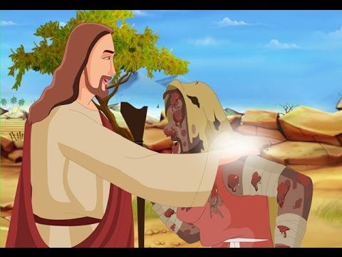 bible stories for kids jesus heals the leper english cartoon