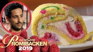 25 cm Biskuit Rolle: Sami ist Deko-Profi 2/2 | Aufgabe | Das große Promibacken 2019 | SAT.1 TV