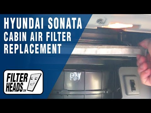 How To Replace Cabin Air Filter Hyundai Sonata Youtube