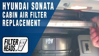 cabin air filter replacement hyundai sonata
