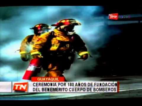 Ceremonia por 180 años de fundación del benemérito cuerpo de bomberos