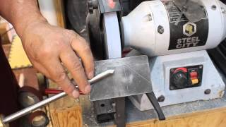 Sharpening  a Bowl gouge with Swept-back Wings:   Woodturning and Sharpening