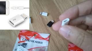 Рекомендую!  Посылка с Китая ОБЗОР. Переходник (Картридер) с micro usb на iphone и Apple.